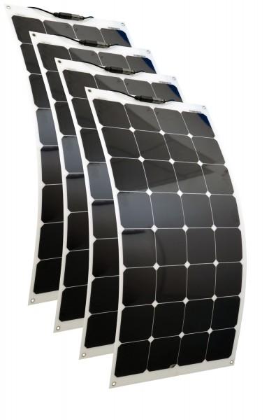 Solarmodule 4 Stück 100 Watt flexibel Mono Solarpanel Solarzelle 1100x542x2 92121