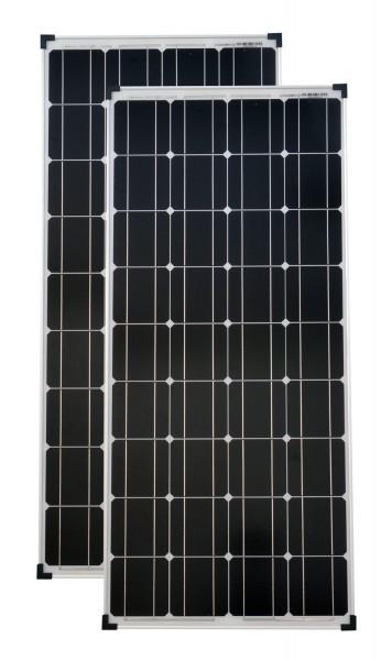 Solarmodule 2 Stück Solarmodul 100 Watt Mono Solarpanel Solarzelle 1200x540x30 90622