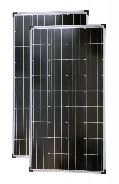 Solarmodule 2 Stück 130 Watt Mono Solarpanel Solarzelle 1130x680x35 90646