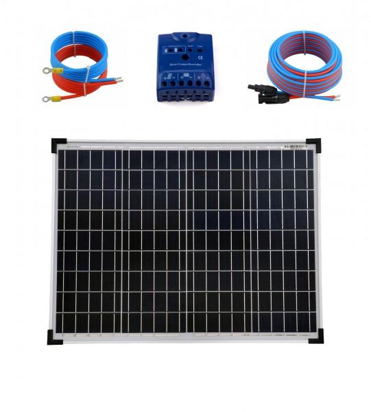Solaranlage 50 Watt 12V poly