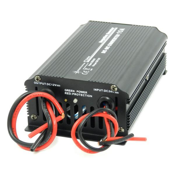 Spannungswandler 24V DC auf 12V DC 15A 180W Negative Booster Konverter