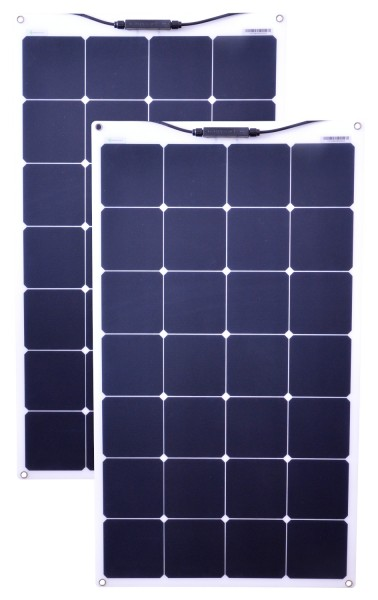 Solarmodule 2 Stück 80 Watt flexibel Mono Solarpanel Solarzelle 950x540x20 94200