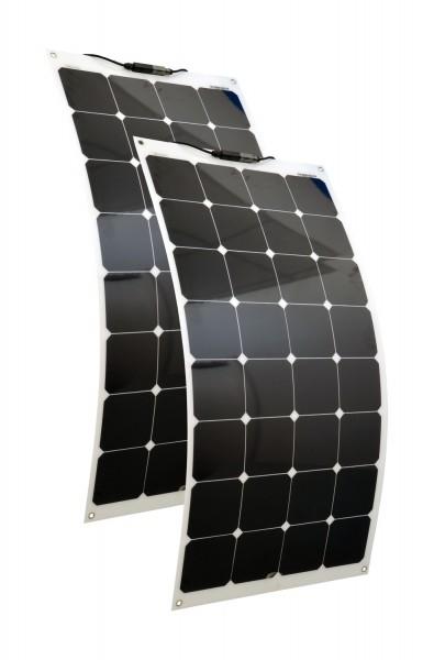 Solarmodule 2 Stück 100 Watt flexibel Mono Solarpanel Solarzelle 1100x542x2 92121