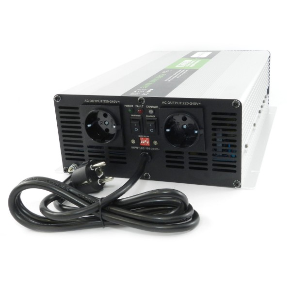 Spannungswandler USV 12V NPS 1500 Watt mit DIP-Schalter reiner SINUS UPS Inverter