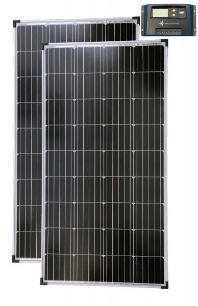 Solarset 12V / 24V 260 Watt + 12V / 24V Laderegler 20A mono