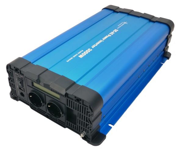 Spannungswandler FS3000D 24V 3000/6000 Watt reiner Sinus BLAU m. Display