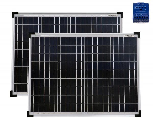 Solarset 100 Watt + 12V Laderegler 10A poly