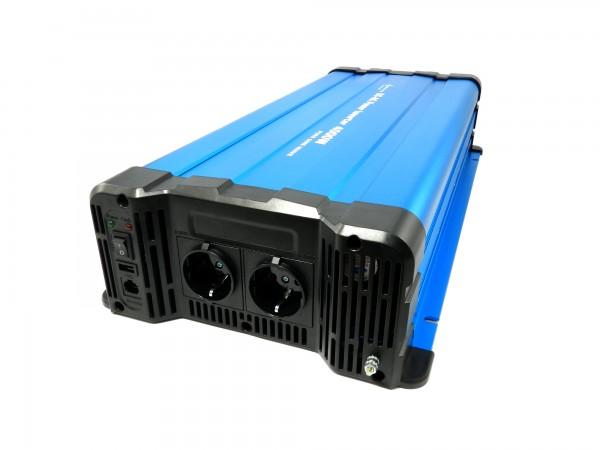 Spannungswandler FS4000DR 24V zu 230V 4000 Watt reiner Sinus BLAU Fernbedienung optional