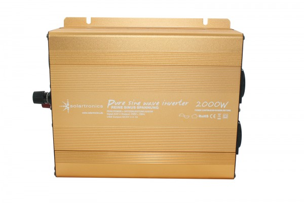 Spannungswandler NP 24V 2000 Watt Power USB 2.1A reiner SINUS Gold Edition