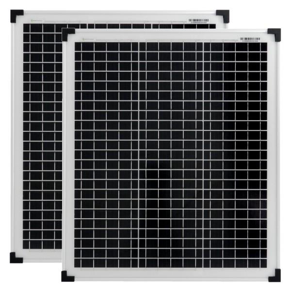 Solarmodule 2 Stück 50 Watt 36V Mono Solarpanele Solarzellen 630x545x30