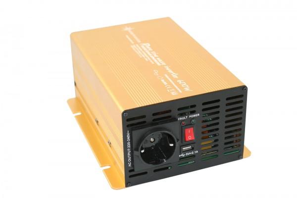 Spannungswandler 24V 600/1200 Watt Power USB 2.1A reiner SINUS Gold Edition