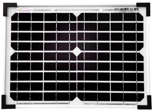 Solarmodul 10 Watt Mono Solarpanel Solarzelle 350x250x25 90530