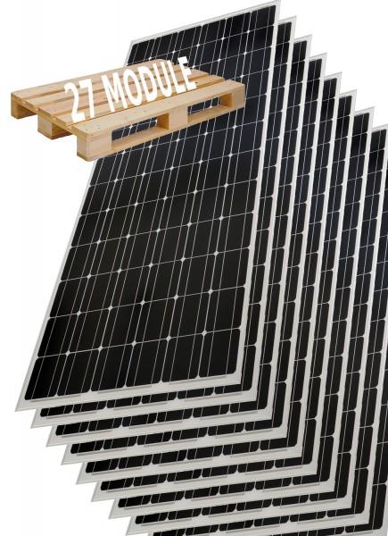 Palette 27 Stück Solarmodul 200 Watt Mono Solarpanel Solarzelle 1580x810x35 92022