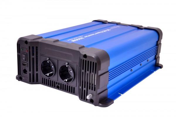 Spannungswandler FS2000DR 24V 2000 Watt reiner Sinus BLAU Inverter