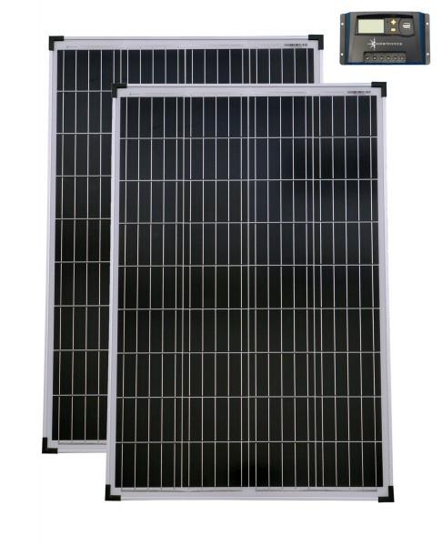Solarset 12V / 24V 200 Watt poly + Solarladeregler 20 A