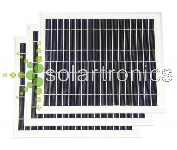 Solarset 30 Watt mono + 12V Solarladeregler schw 10A