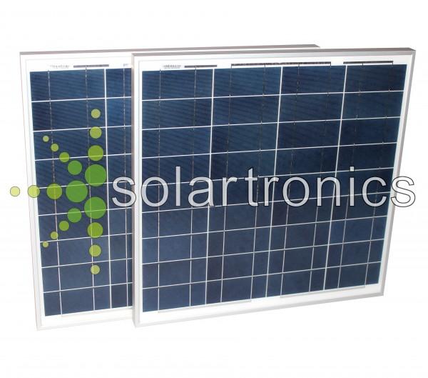 Solarset 100 Watt + 12V Laderegler schw 10A poly