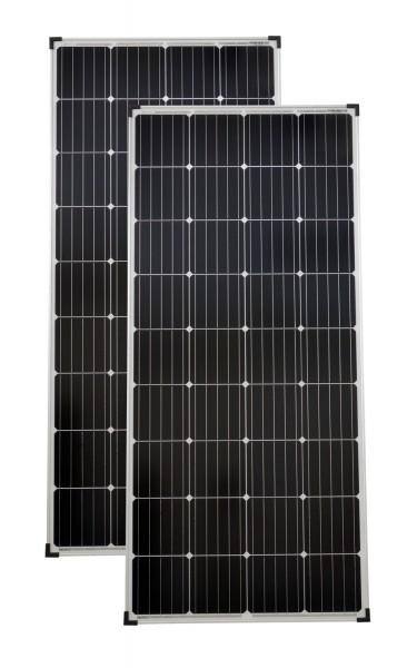Solarmodule 2 Stück 150 Watt Mono Solarpanel Solarzelle 1480x675x35 90660