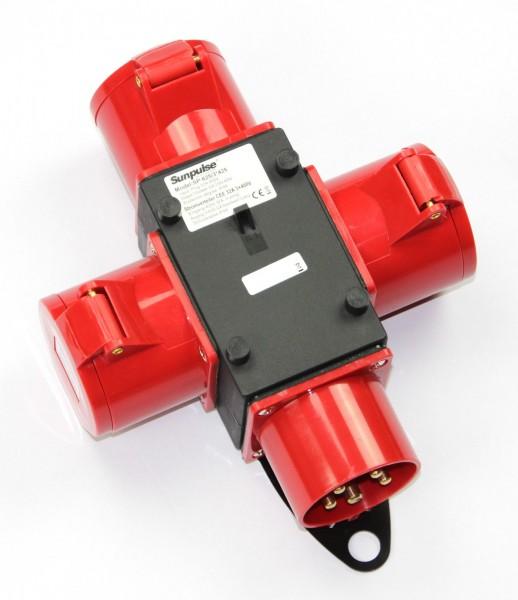 Adapter Stromverteiler 32A 3x 400V Baustromverteiler Verteiler