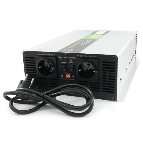 Spannungswandler USV 12V NPS 2000 Watt mit DIP-Schalter reiner SINUS UPS Inverter