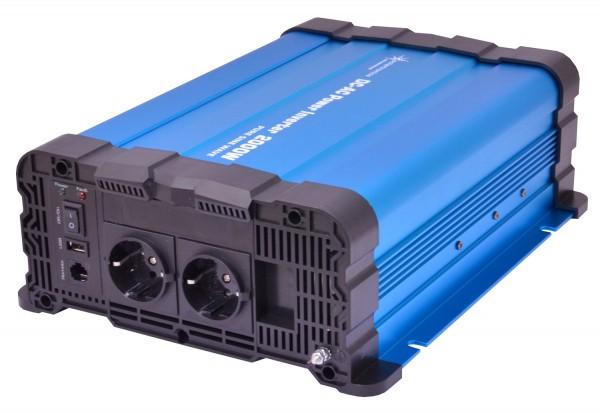 Spannungswandler FS2000DR 12V 2000/4000 Watt reiner Sinus BLAU Inverter