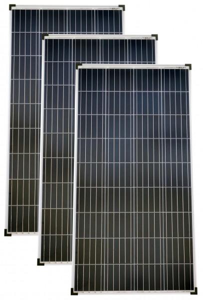 Solarmodule 3 Stück 140 Watt Poly Solarpanel Solarzelle 1300x668x35 91698