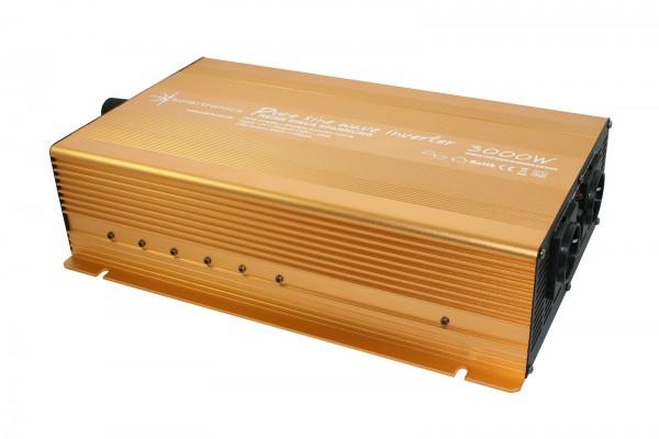 Spannungswandler NP 24V 3000 Watt reiner SINUS Gold Edition