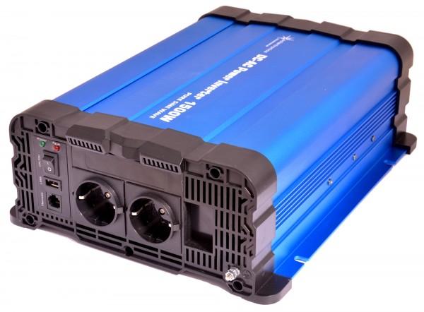 Spannungswandler FS1500DR 12V 1500 Watt reiner Sinus BLAU Inverter