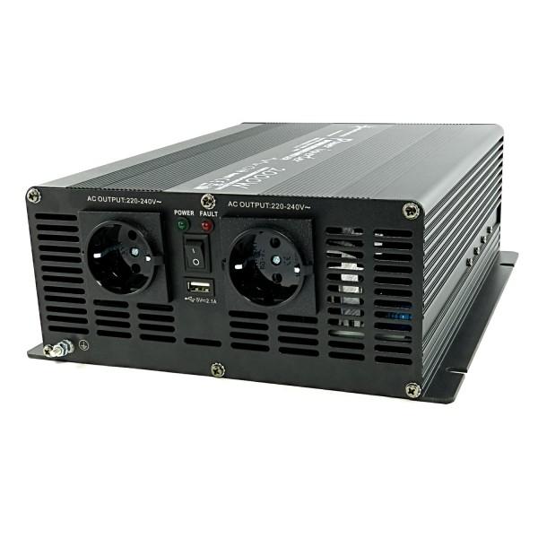 Spannungswandler Wechselrichter NM 12V auf 230V 2000 / 4000 Watt modifiziert USB schwarz
